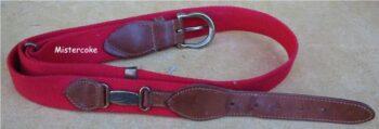 Cintura in tessuto e pelle Abbigliamento