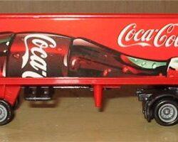 Camion coca cola motrice in metallo cm 18 Camion