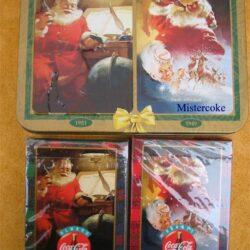 Doppio mazzo di carte con astuccio in alluminio anno 1997 Carte da gioco