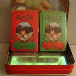 Doppio mazzo di carte con astuccio in alluminio Vintage Carte da gioco