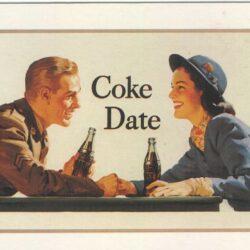 Coke Date orig. 1950 ripr. 1991 Cartoline