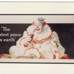 The greatest Pause on Earth orig. 1940 ripr. 1990 Cartoline