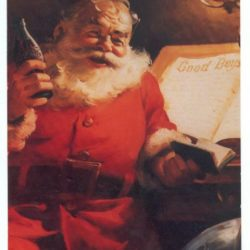 Merry Christmas with Santa Claus anno 1951 Cartoline