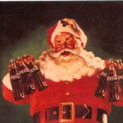 Merry Christmas with Santa Claus anno 1944 Cartoline