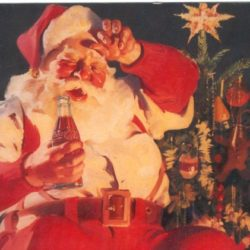 Merry Christmas with Santa Claus anno 1935 Cartoline